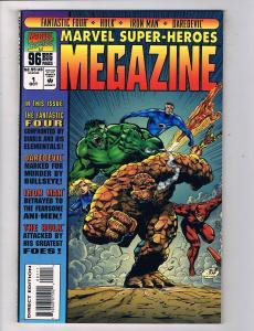 Marvel Super-Heroes Megazine #1 Comic Book Hulk Daredevil Iron Man HH1