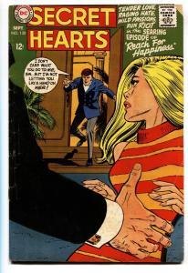 SECRET HEARTS #130 comic book-1968 Great cover-DC ROMANCE