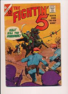 THE FIGHTIN' 5 -- #34 ~ Foreigners - Charlton Comics 1965 ~ VG (HX515)