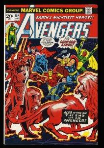 Avengers #112 FN+ 6.5 1st Mantis!