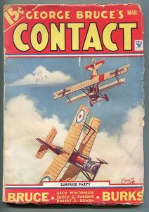 GEORGE BRUCE'S CONTACT 03/1934-WWI-BI-PLANE- TINSLEY-DOG FIGHT-vg minus