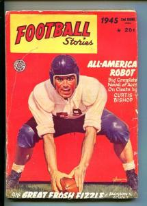 FOOTBALL STORIES-FALL 195-PULP-GEORGE GROSS-FOOT BALL CENTER COVER-vg