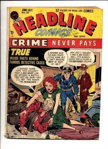 HEADLINE COMICS #30-GRITTY CRIME COMIC G/VG