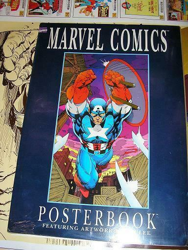 MARVEL COMICS POSTERBOOK Artwork by Jim Lee 1991