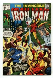 IRON MAN #27 1970 1st appearance of Firebrand Marvel comic book VF/NM