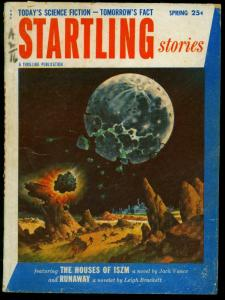 Startling Stories Pulp Spring 1954-Jack Vance-Leigh Brackett- Donovan's Brain VG