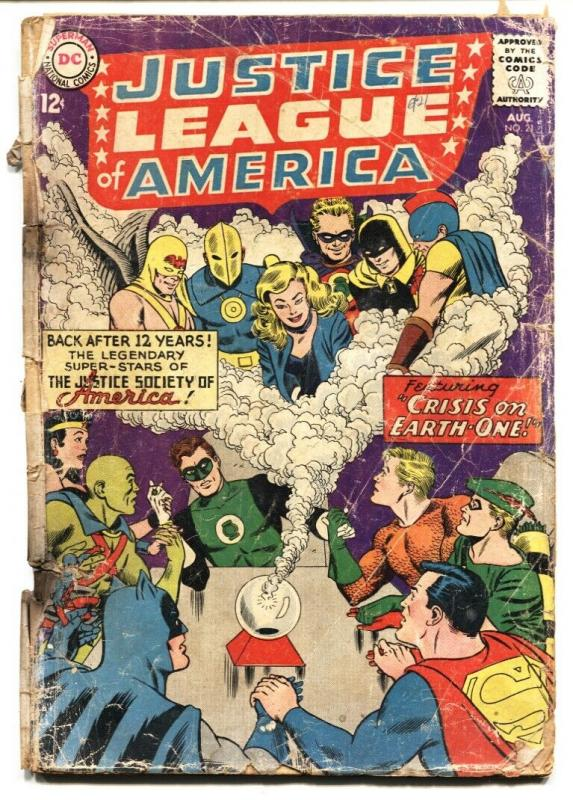 JUSTICE LEAGUE OF AMERICA #21 comic book 1963-JUSTICE SOCIETY fr