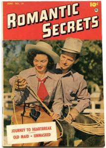 ROMANTIC SECRETS #19 1951-PHOTO COVER-WESTERN-FAWCETT FN-