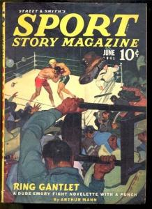SPORT STORY 6/1941-VIOLENT BOXING COVER FN