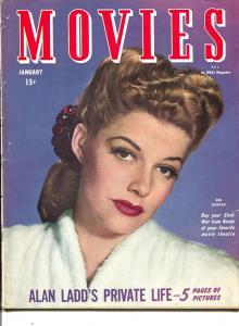 Movies-Ann Sheridan-Harry James-Cornel Wilde-Humphrey Bogart-Jan-1945