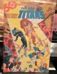 DC COMICS-THE NEW TEEN TITANS-#14-2ND SERIES-CRISIS ON THE EARTHS CROSSOVER!!