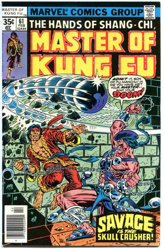 MASTER of KUNG-FU #61 62 63 64 65, VF/NM to NM-, 1974, 5 issues, more in store
