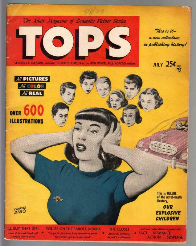 Tops #1 1949 VERY RARE oversized Lev Gleason comic book
