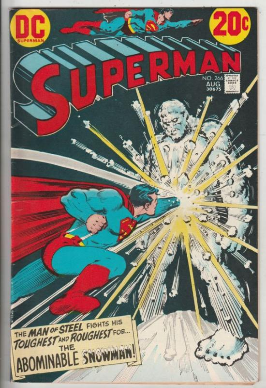 Superman #266 (Aug-73) VF/NM High-Grade Superman