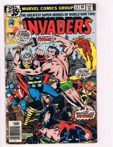 The Invaders #33 VG Marvel Comics Comic Book Kirby Oct 1978 DE34
