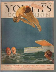 Youth's Companion 8/1929-Courtney Allen cover-pulp fiction-aviation-VG