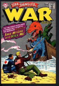 STAR SPANGLED WAR STORIES #135 1967 DC DINOSAUR STORY HIGH GRADE