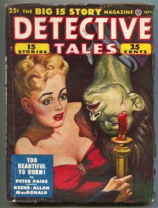 Detective Tales Pulp September 1948- Too Beautiful Too Burn