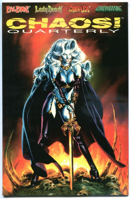CHAOS QUARTERLY #3, NM, Lady Death, Joe Jusko, Brian Pulido,more indies in store