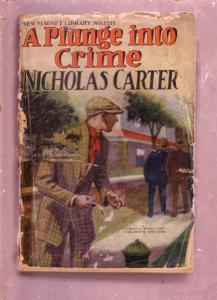 NEW MAGNET LIBRARY-#1218-PLUNGE INTO CRIME-NICK CARTER FR