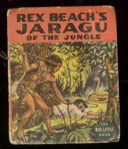 REX BEACH'S JARAGU OF THE JUNGLE-BLB #1424-SNAKE COVER- VG