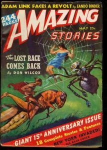 AMAZING STORIES 1941 MAY-PULP-J. ALLEN ST. JOHN CVR FN