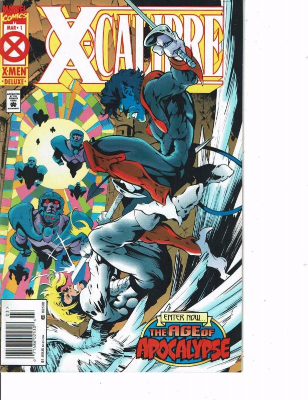 Lot Of 2 Marvel Comic Books X-Calibur #1 and Excalibur  ON4