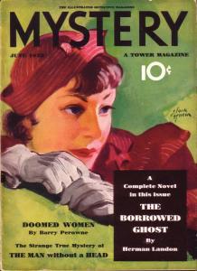 MYSTERY 1933 DOOMED WOMEN PULP CRIME HORROR TERROR VG