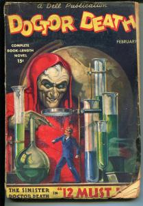 Doctor Death-2/1935-Dell-1st issue-villain pulp-rare-FR