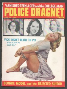 Police Dragnet Cases 5/1960-Bondage photo cover-Scandals-posed pix-pulp myste...