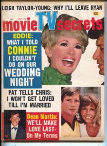 Movie TV Secrets-Connie Stevens-Eddie Fisher-William Shatner-July-1967