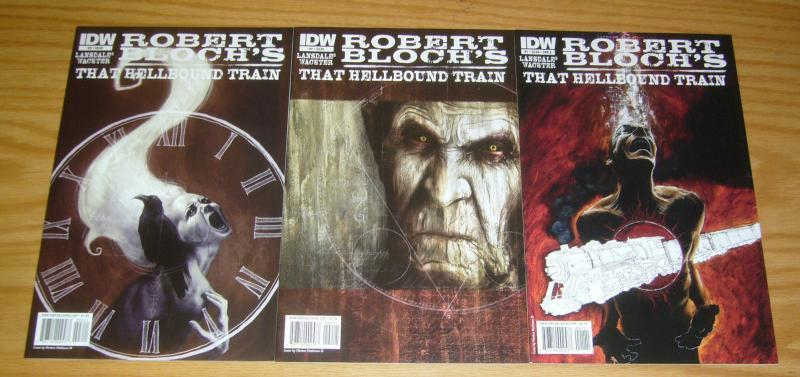 Robert Bloch's That Hellbound Train #1-3 VF/NM complete series JOE LANSDALE A 2