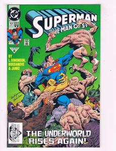 Superman The Man Of Steel # 17 NM 2nd Print DC Comic Book 1st Doomsday App. AD24