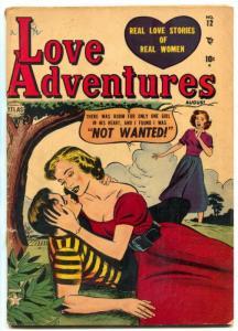 Love Adventures #12 1952- Atlas Romance- Jay Scott Pike VG-
