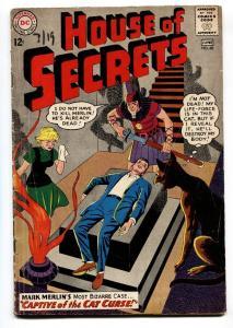 HOUSE OF SECRETS-#60-dc comic book-Cat cover-Mark Merlin