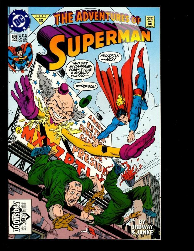 9 Adventures of Superman DC Comics # 444 445 447 494 495 496 497 498 499 JF16