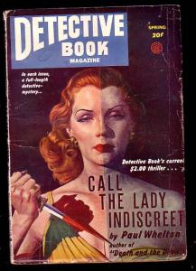 DETECTIVE BOOK-SPG 1947-MENACING GOOD GIRL!! VG