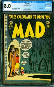 Mad #1 CGC Graded 8.0 1st satire comic.