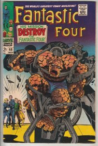 Fantastic Four #68 (Nov-67) VF/NM High-Grade Fantastic Four, Mr. Fantastic (R...