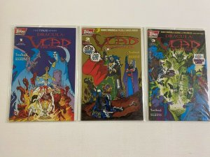Dracula Vlad the Impaler set #1-3 6.0 FN polybagged (1993 Topps)