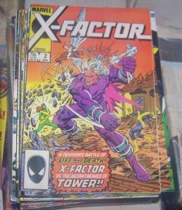 X-Factor #2 (Mar 1986, Marvel) cyclops beast iceman angel xmen vs TOWER