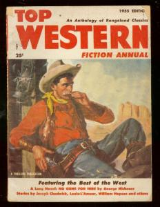 TOP WESTERN FICTION ANNUAL 1955-LOUIS L'AMOUR-CHADWICK VG