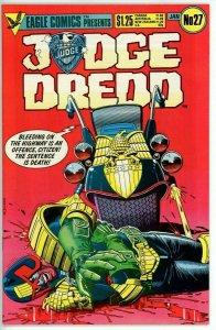 Judge Dredd #27 (1983 Eagle) - 9.0 VF/NM *The Lawmaster Goes Haywire*