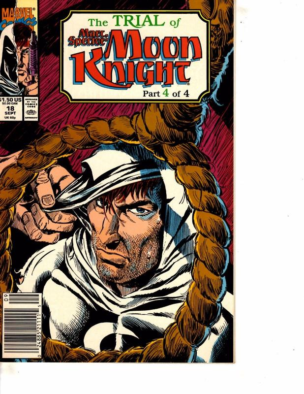 Lot Of 2 Marvel Comic Books Trail of Moon Knight #3 4   BH52