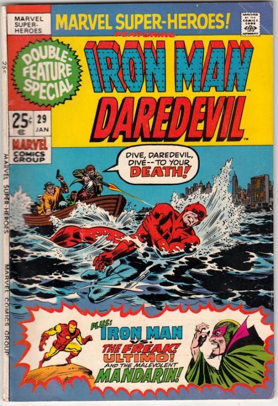 Marvel Super-Heroes #29 (Jan-71) FN/VF High-Grade Daredevil, Iron Man