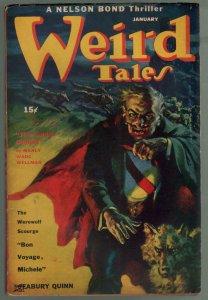 Weird Tales 1/1944-Bok-pulp horror & fantasy-Harold deLay-Bradbury-VG/FN