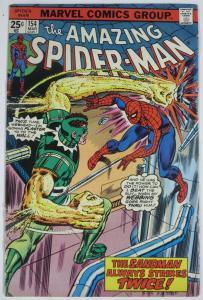 AMAZING SPIDER-MAN  #154 (Marvel,3/1976) FINE Sandman! Wein & Sal Buscema