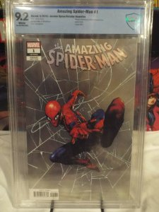 Amazing Spider-Man #1  CBCS 9.2  NM- 2018 Jerome Opena Retailer Incentive