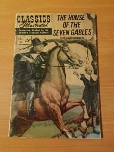 Classics Illustrated #52 - The House Of The Seven Gables ~ VERY GOOD VG ~HRN 166