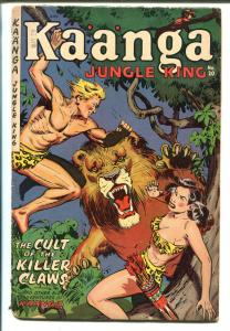 Kaanga #20 1954-Fiction House-final issue-Sheena-Maurice Whitman-Spicy-G/VG